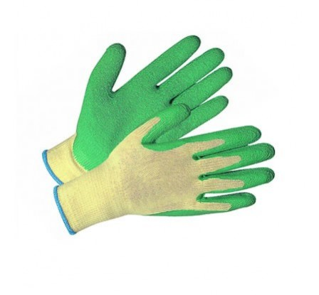 Nylon Supported Nitrile Gloves Green