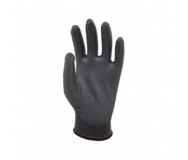 Nylon Supported Polyurethane Gloves Black